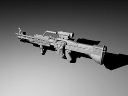 Carbine Rifle 3d model