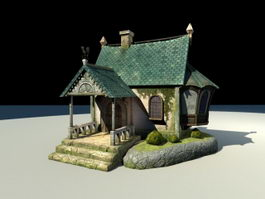 Anime Beautiful House 3d model
