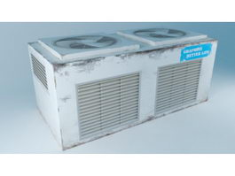 Commercial Air Conditioning Unit 3d model