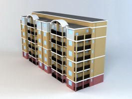 Condominium Building 3d model