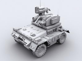 Unmanned Ground Combat Vehicle 3d model