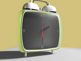 Modern Green Alarm Clock 3d model