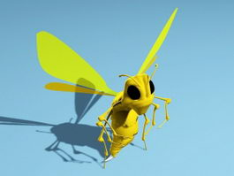 Wasp Cartoon 3d model