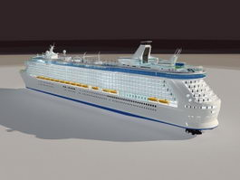 Luxury Cruise Ship 3d model
