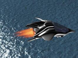 Sci-Fi Dropship Concept 3d model