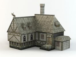 Medieval Village House 3d preview