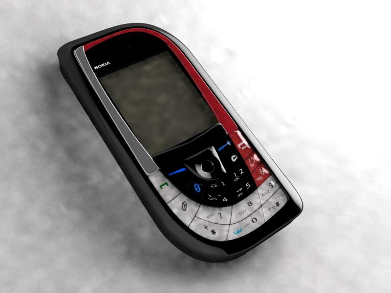 Nokia 7610 Smartphone 3d model Maya files free download - modeling