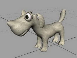Cartoon Dog Rig 3d model