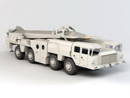 Scud Missile Truck Vehicle 3d model