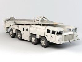 Scud Missile Truck Vehicle 3d model