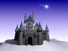 Disney Castle Animated 3d model
