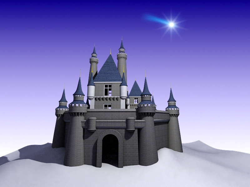 Disney Castle Animated 3d Model 3ds Max Files Free