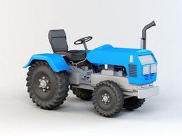 Blue Tractor 3d model