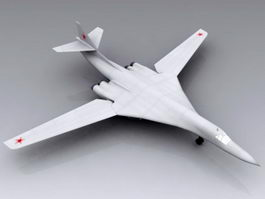 Tu-160 Blackjack Bomber 3d model