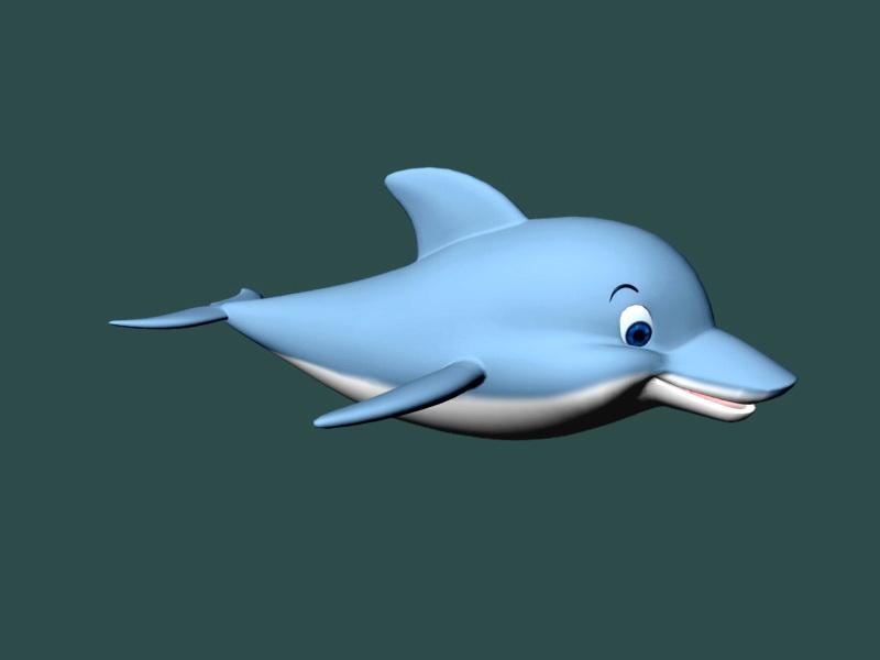 cartoon underwater scene rigged animated 3d model - 800×600