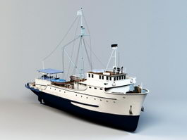 Commercial Fishing Boat 3d model