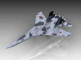 Su-35 Flanker-E Fighter Aircraft 3d model