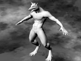 Male Werewolf 3d model