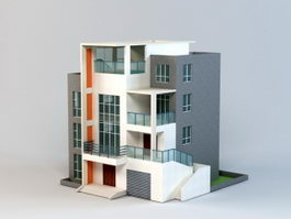 Multi-layered House 3d model