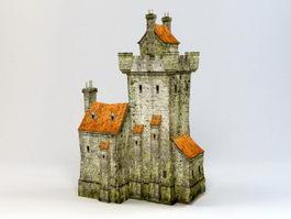 Medieval Castle Village 3d model