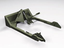 M1 Dozer Blade 3d model