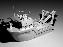 Whale Vessel 3d model