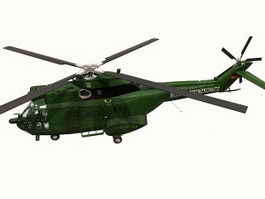SA 330 Puma Helicopter 3d model