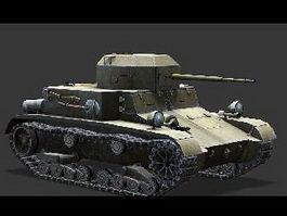 American T2 Tank 3d model