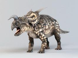Einiosaurus Dinosaur Rig 3d model