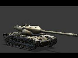 T57 Heavy Tank 3d model