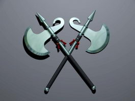 Crossed Battle Axes 3d model