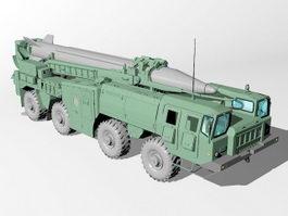 R-17 Elbrus (Scud) Short-Range Ballistic Missile 3d model