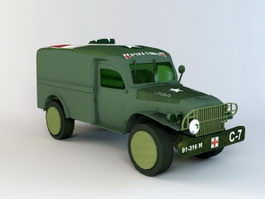 WW2 Military Ambulance 3d model