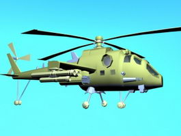 Military Helicopter Cartoon 3d model
