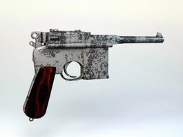 1930 Mauser Pistol 3d model