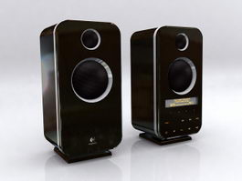 Logitech Z-10 Speakers 3d model