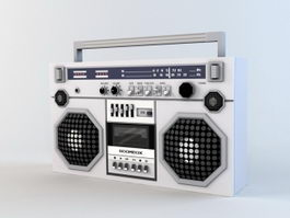 Old Boombox Low Poly 3d model