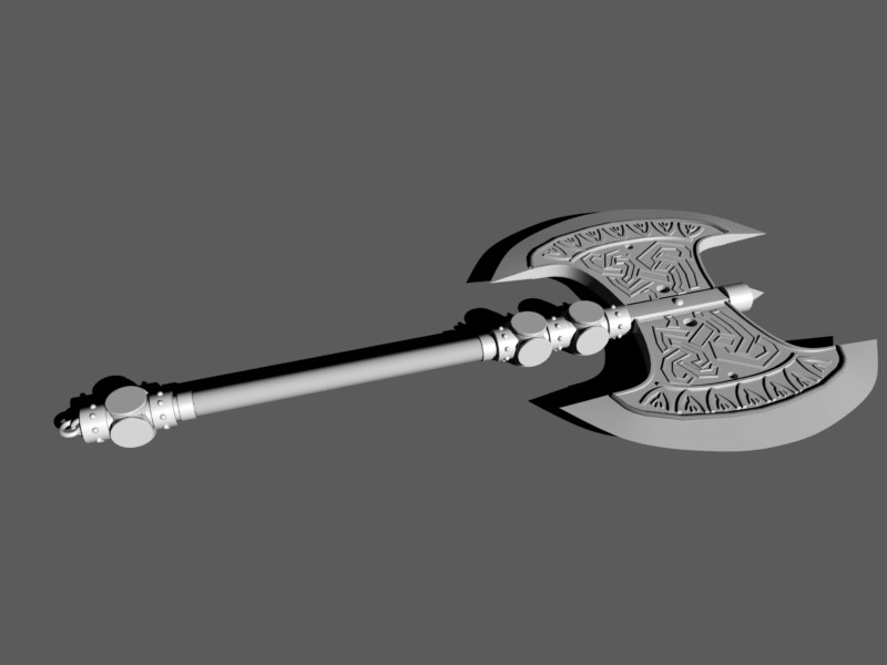 Dwarf Axe 3d Model Maya Files Free Download Modeling 47690 On Cadnav