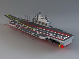 Chinese Aircraft Carrier Liaoning 3d model
