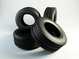 Truck Tires 3d model