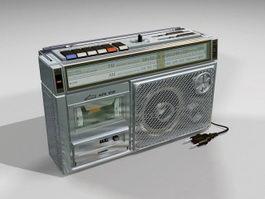 Cassette Tape Recorder Player 3d model
