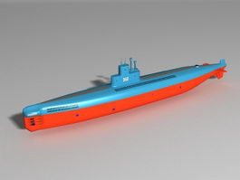 Type 035 Submarine 3d model