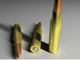 7,62mm NATO Rifle Cartridge 3d model