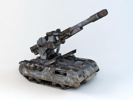 Sci-Fi Self-Propelled Artillery 3d model