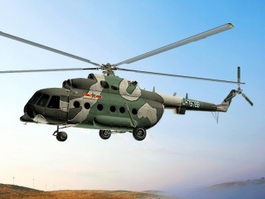 Chinese Mi-171 Helicopter Animated 3d model