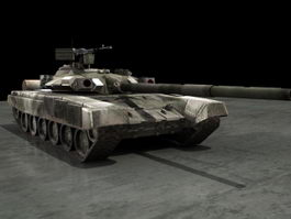 Russian T-90 Battle Tank 3d model