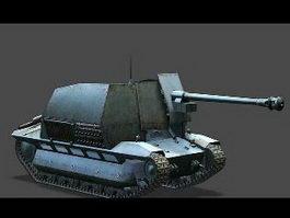 FCM 36 Pak 40 Tank 3d model