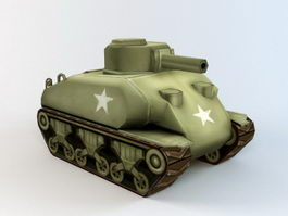 Military Army Tank Cartoon 3d model