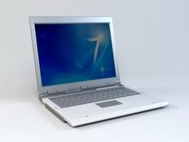 Silver Laptop 3d model