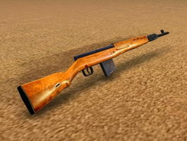 SVT-40 Rifle 3d model